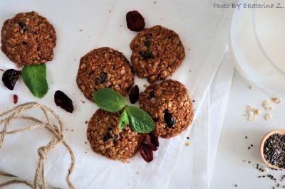 Овесени сладки с червени боровинки - Изображение 1